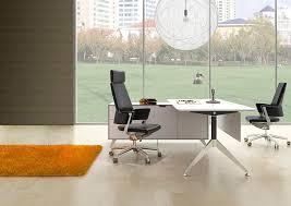unique furniture 400 collection white desk 482 with left return