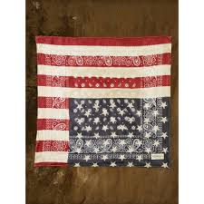 American Flag Rugs Lyst Denim U0026 Supply Ralph Lauren American Flag Bandana In Blue