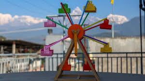 diy projects ferris wheel from straw youtube backyard ideas