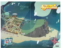 Nyc City Map Beach City Map From New York Comic Con Steven Universe Know
