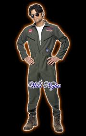 top gun jumpsuit fancy dress costume mens top gun jumpsuit lg xl