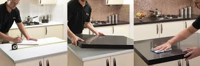how to install kitchen countertops how the countertop overlay installation process works granite