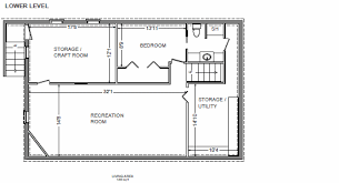 Free House Plans With Basements Lower Floor Plan Of Ranch House Plan 92395 Ranch Home Plans With