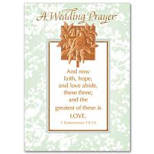 wedding wishes and prayers and now faith and abide wedding congratulations card