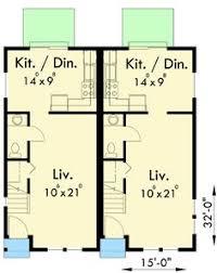 narrow lot 2 storey front to back duplex 2012569 edesignsplans