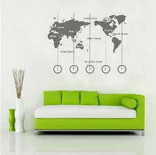 type map wall decals world map wall decals continents wall