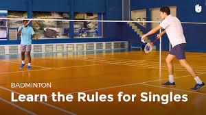 singles rules badminton youtube