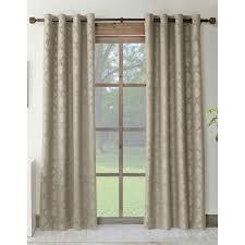 Allen Roth Curtain Allen Roth Drenham 84 In Taupe Polyester Grommet Room Darkening