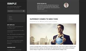 isimple classic responsive blogger templates flytemplate