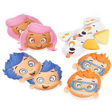 bubble guppies party masks 8 count party supplies walmart