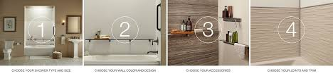 Bathtub Wall Kit Choreograph Shower Wall And Accessory Collection Bathroom Kohler