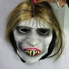 halloween full head mask scary buck teeth vampire cosplay prank