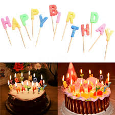 sparkler candles colorful glitter happy birthday letters toothpick cake candles