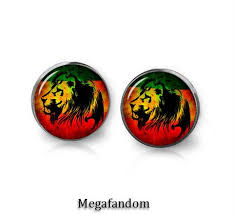 reggae earrings reggae lion stud earrings lion jewelry reggae jewelry megafandom