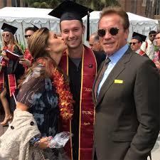 Arnold Schwarzenegger Halloween Costume Patrick Schwarzenegger Graduates Usc Maria U0026 Arnold Reunite