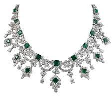 diamond necklace image images 57 emerald diamond necklaces art deco emerald diamond platinum jpg