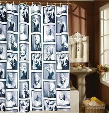 best marylin flowers shower curtain copper buckle 180x180cm