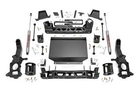 lifted nissan frontier 2017 rou 877 20 rough country 6in suspension lift kit fits 2016 nissan