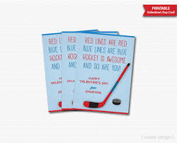 hockey valentines cards valentines hockey cards personalized