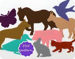 felt farm animals pdf pattern for flannel board instant