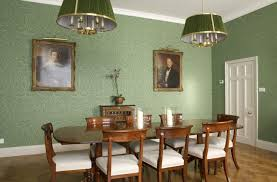 green dining room ideas dining room patterned green wall dining room with wooden
