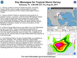 Texas Coast Map Hurricane U0026 Storm Surge Warnings Issued For Texas Coast As Harvey