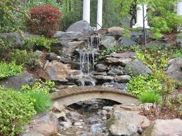 Waterfall In Backyard Ponds For Backyard With Waterfall