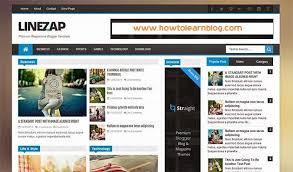linezap responsive free blogger template