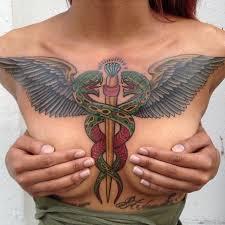 15 impressive caduceus tattoos tattoodo