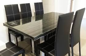 black marble dining table set marble dining dining table set in sydney warehouse
