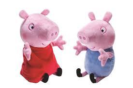 amazon com peppa pig peppa and george giggle n u0027 wiggle plush
