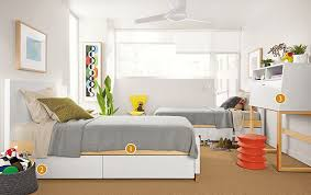 Room And Board Bedroom Furniture Moda Twin Beds And Office Armoire Modern Kids Furniture Room