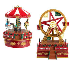 mr set of 2 animated carousel and ferris wheel page 1