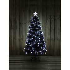 kingfisher 6ft black fibre optic tree with bright white