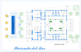 hacienda del mar puerto aventuras rentals hacienda del mar mexico main building ground floor plan