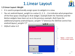 android layout weight attribute android screen containers layouts