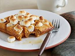 sweet potato waffles with marshmallows recipe food network