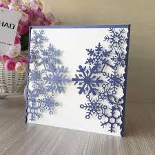 Wedding Invitation Cards China Online Buy Wholesale Snowflake Wedding Invitation From China
