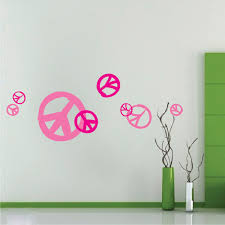peace sign wall decals trendy wall designs