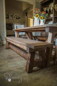Woodworking Plans For Kitchen Tables by Best 25 Table Bench Ideas On Pinterest Farmhouse Outdoor
