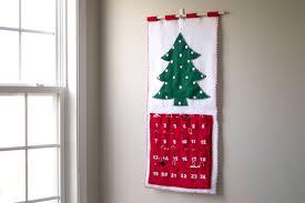 Christmas Tree Advent Felt Christmas Advent Calendar