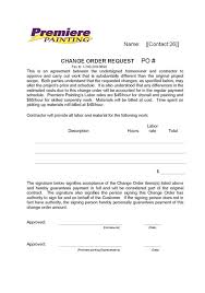 Change Order Template Excel 28 Change Template File Issues Template