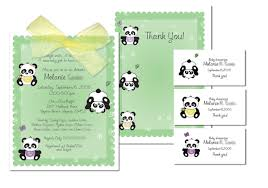 Baby Shower Invitations And Thank You Cards Panda Baby Shower Invitations Theruntime Com