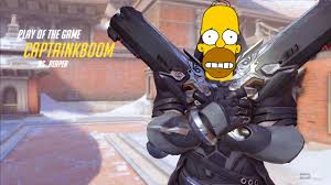 Homer Simpson Meme - reaper potg parody homer simpson meme overwatch youtube