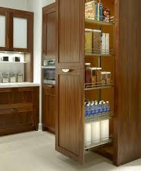 wooden pantry kitchen ideas in corner tall pantry pull out