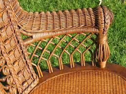 victorian wicker rocking chair from a unique collection of