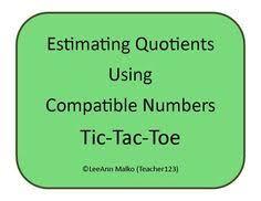 estimate the quotient game part of division unit game boards