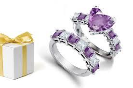 Purple Wedding Rings by Top Designer Unique Diamond Engagement U0026 Wedding Rings