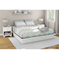 White Platform Bed Frame South Shore Soho King Platform Bed With Molding 78 Apos Apos