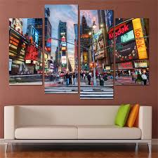 new york city home decor new york buildings home decor hd printed modern art painting on